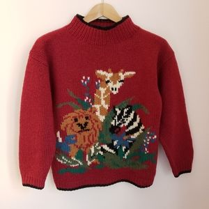 Vintage Charter Club Hand Knitted Animal Sweater